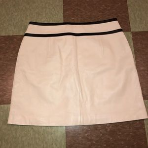 Urban Outfitters Skirts - Margaret godfrey ivory minimalist leather skirt 10